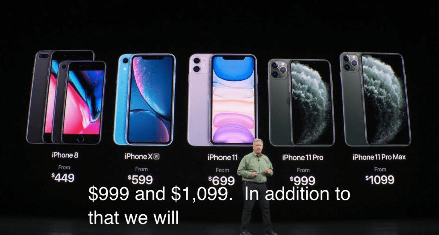 iPhoneカメラの数