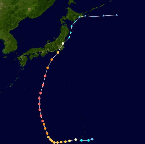 狩野川台風進路